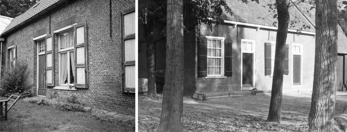 Links; de Kleine Hoeve van Burgst, in 1969 gefotografeerd door C.Th Lohmann. Rechts; de Grote Hoeve van Burgst, in 1969 gefotografeerd door C.Th Lohmann.